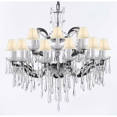 Mccullough 18-Light Crystal Chandelier