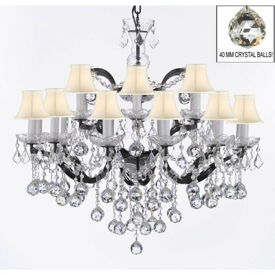 Patel 18-Light Crystal Chandelier