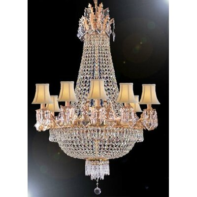 Stewart 12-Light Crystal Chandelier Crystal Grade: Empress