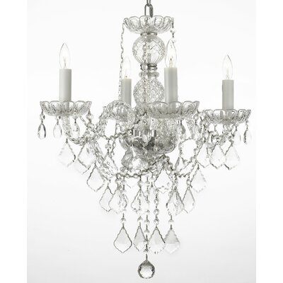 Kephart 4-Light Crystal Chandelier