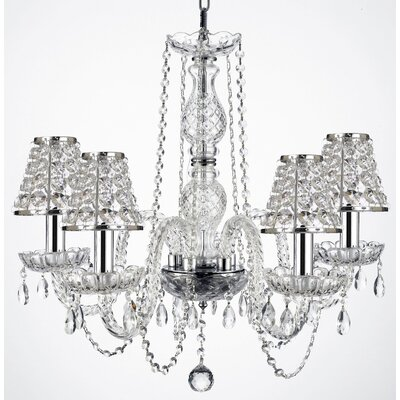 5-Light Crystal Chandelier Shade Included: Yes