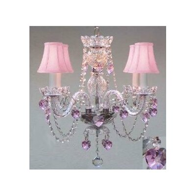 4-Light Crystal Chandelier Crystal Grade: Swarovski