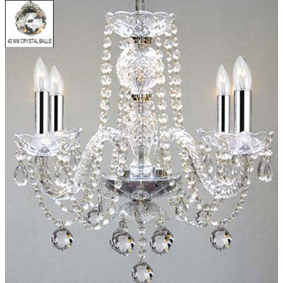 Keown 4-Light Crystal Chandelier