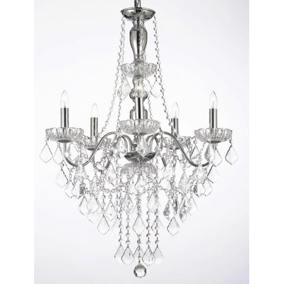 5-Light Crystal Chandelier Crystal Grade: Swarovski