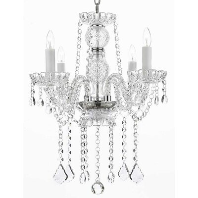 4-Light Crystal Chandelier Crystal Grade: Empress