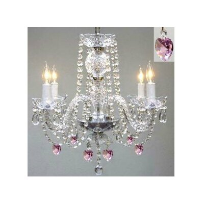 Kerlin 4-Light Crystal Chandelier Crystal Grade: Swarovski