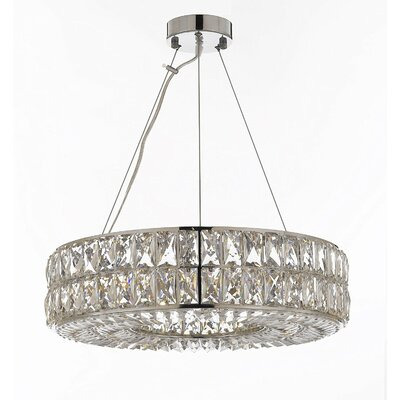 Hsieh Ring 8-Light Crystal Chandelier