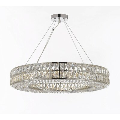 Hubbert Ring 16-Light Crystal Chandelier