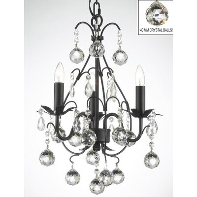 Clemence 3-Light Empress Crystal Chandelier