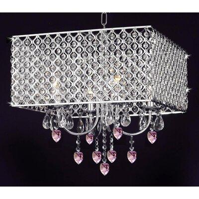 Howle 4-Light Crystal Chandelier