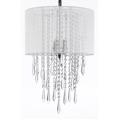 Swarovski 3-Light Drum Chandelier