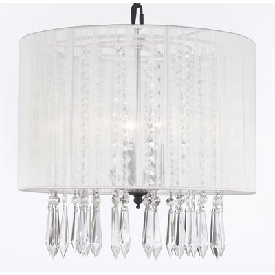 Kimes 3-Light Drum Chandelier