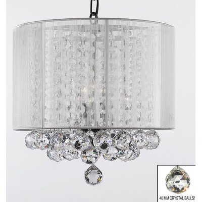 Howton 3-Light Drum Chandelier Shade Color: White