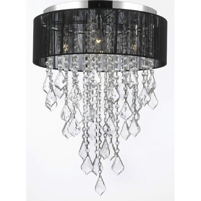 Borrego 4-Light Drum Chandelier Shade Color: White