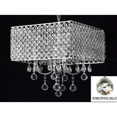 Howington 4-Light Crystal Chandelier