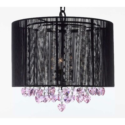 Maria Theresa 3-Light Drum Chandelier Shade Color: Black