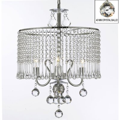 3-Light Crystal Chandelier