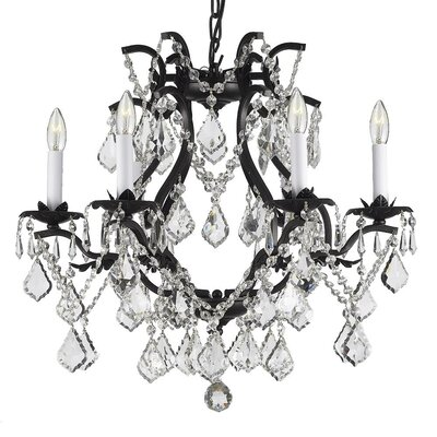 Alvarado 6-Light Traditional Crystal Chandelier Plug-In Kit: Not Included