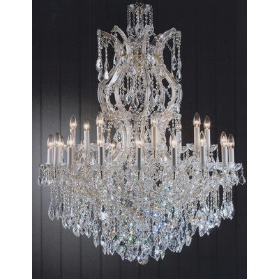 Alvarado 25-Light Gold Crystal Chandelier