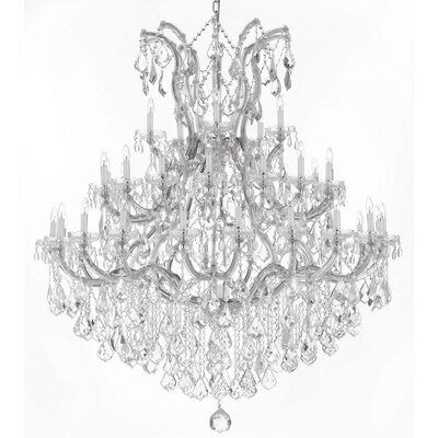 Alvarado 37-Light Empress Crystal Chandelier