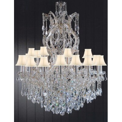 Keenum 25-Light Crystal Chandelier