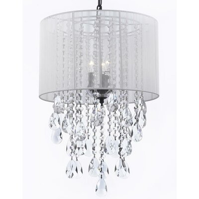 Kimzey 3-Light Drum Chandelier