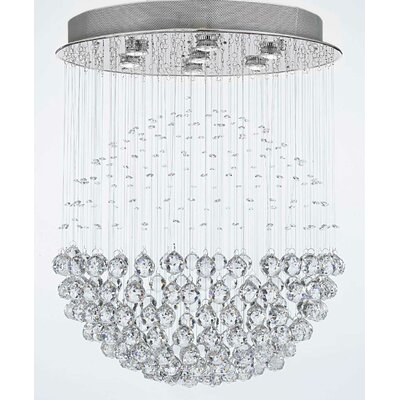 Antoninus 7-Light Chrome Flush Mount