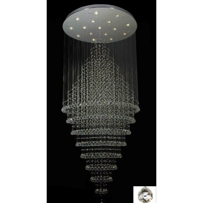 Rain Drop 16-Light Flush Mount