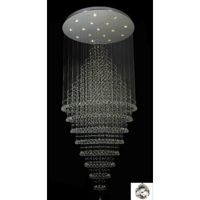 Antoninus 16-Light Chrome Flush Mount