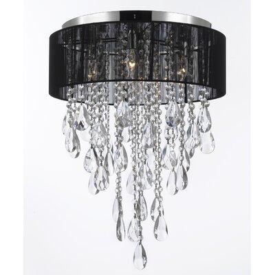 4-Light Flush Mount Color: Black