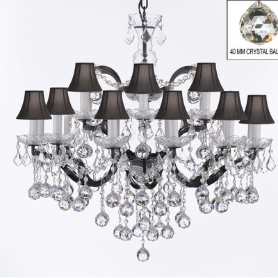 Clemence 18-Light Black Crystal Chandelier