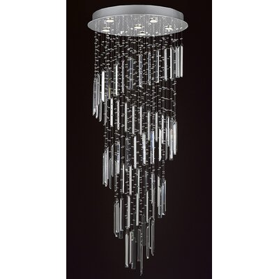 Rain Drop 6-Light Flush Mount