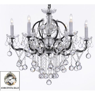 Clemence 6-Light Crystal Chandelier