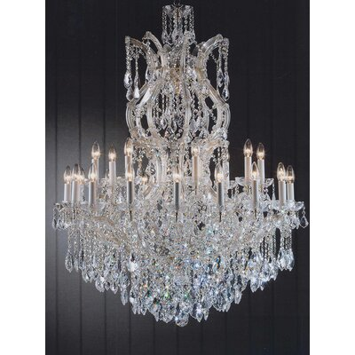 Alvarado 25-Light Gold Chain Crystal Chandelier