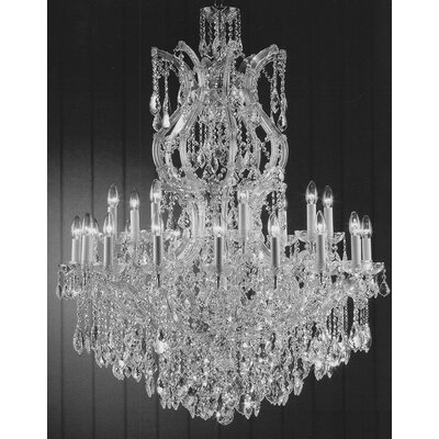 Alvarado 25-Light Silver Crystal Chandelier