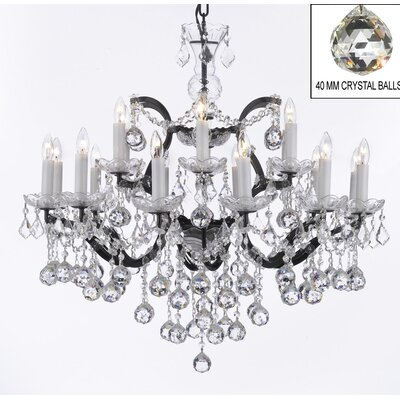Alvan 18-Light Crystal Chandelier