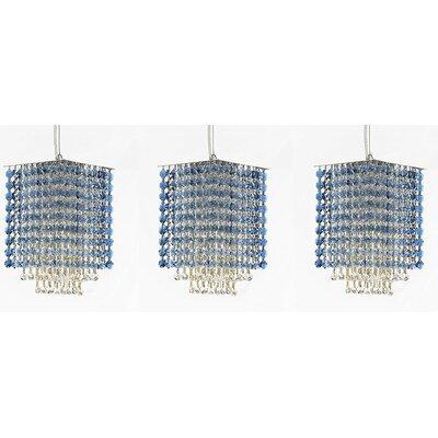 Borrego 1-Light Crystal Pendant Crystal: Blue