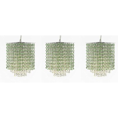 Borrego 1-Light Crystal Pendant Crystal: Green