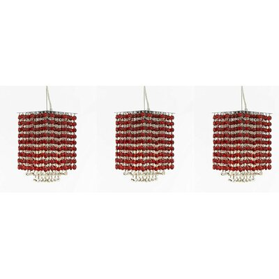 Borrego 1-Light Crystal Pendant Crystal: Red