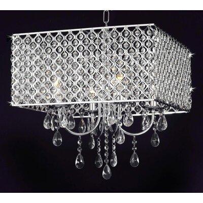 Huckins 4-Light Crystal Chandelier