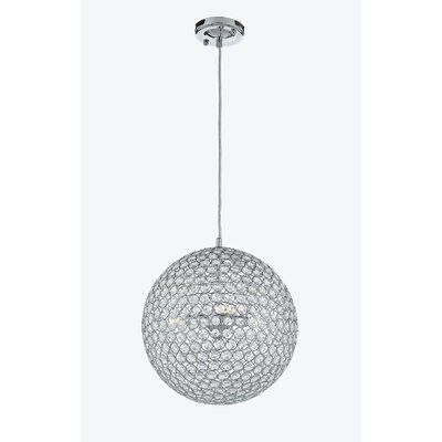 Modern 1-Light Globe Pendant