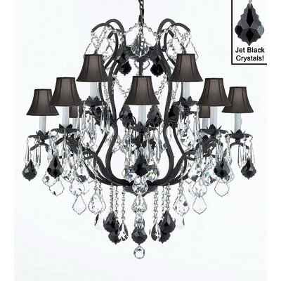 Clemence 12-Light Crystal Chandelier Shade Included: Yes