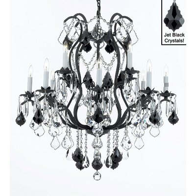 Clemence 12-Light Crystal Chandelier Shade Included: No