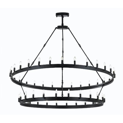Camino Barn Metal 54-Light Candle-Style Chandelier