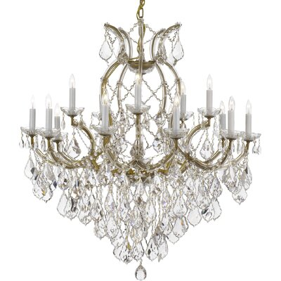 Empress 16-Light Crystal Chandelier Color: Gold