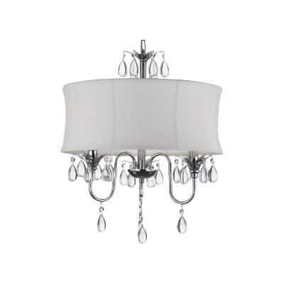 Barthelemy 3-Light Crystal Chandelier Plug-In Kit: No