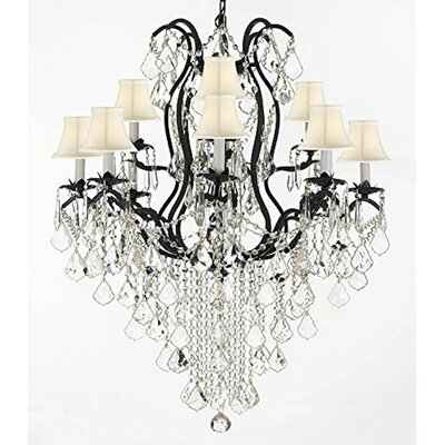 Alvan 12-Light Chrome Crystal Chandelier