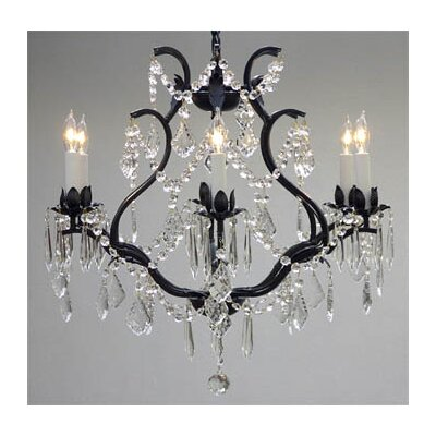 Majesty 6-Light Crystal Chandelier Plug-In Kit: Not Included
