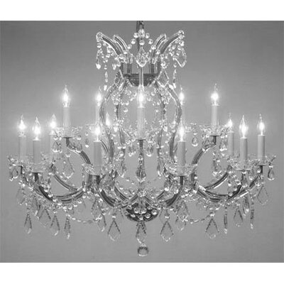 Alvarado Trimmed 16-Light Crystal Chandelier Color: Chrome