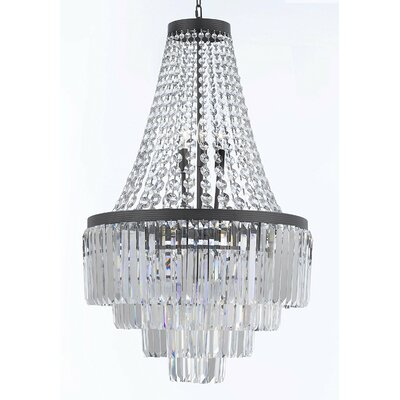 Keever Glass Fringe 11-Light Crystal Chandelier